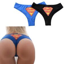 Sexy Superman Panties Knickers G-String Thongs Lingerie Underwear Ladies Women