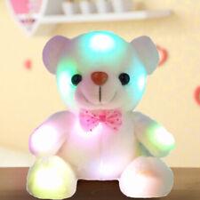 Light Up LED Teddy Bear Doll Stuffed Animals Plush Soft Toys Kids Xmas Gift
