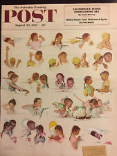 Saturday Evening Post 1952 COVER ONLY Norman Rockwell Day in the Life of a Girl