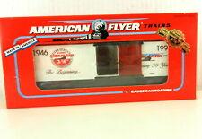 AMERICAN FLYER/Lionel S Scale #6-48324 1996 50Th Anniv Christmas Boxcar T142