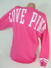 Victoria's Secret LOVE PINK Women's Small Sweatshirt Pullover Top Tunic BIG NWT