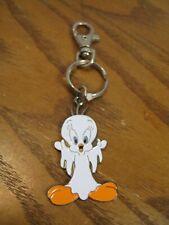 Warner Bros. Tweety as a Ghost Key Chain - Enamel Coated Metal Key Ring - 1999