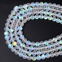 Natural Stone Crystal White Austria Round Loose Beads Moon Jewelry Making