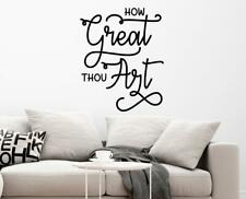 How Great Thou Art Kitchen Living Dining Room Christian Wall Decal Wall Art