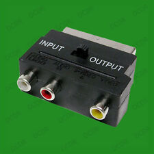 SCART A RCA COMPOSITO E LR ADATTATORE AUDIO, TV, televisione, Input / Output SWITCH