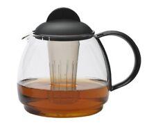 Teekrug 1.8l - schwarz Trendglas Jena hitzebeständig mit Filter Mikrowelle