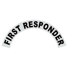 First Responder Black Helmet Crescent Reflective Decal Sticker