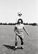 Maradona Napoli Entrenamiento BW PÓSTER