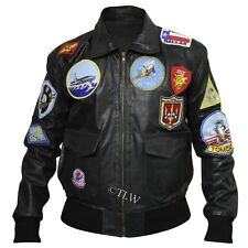 Tom Cruise TOP GUN Pete Maverick's FAUX Leather Jacket , All Sizes <Fast Ship>