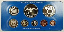 1979 Soloman Islands 8 Coin Proof Set- Sterling Silver $5 $10- w/ Box & COA