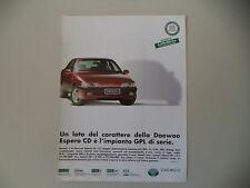 advertising Pubblicità 1997 DAEWOO ESPERO