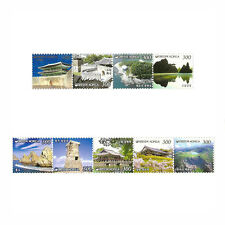 Korean Postage Stamp Beautiful Korea 9 Places of Scenic Beauty Definitive Stamps