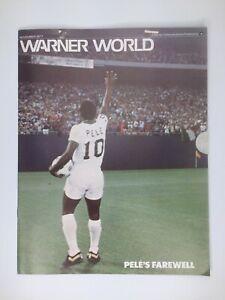 VTG Warner World Magazine Celebrating Pele's Soccer Career Farewell Nov. 1977