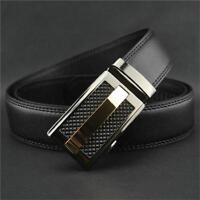 Men Elegant Casual Business Leather Belt Automatic Buckle Waistband Belt HOT W