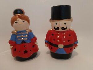Set Of 2 Avon Nutcracker LED Tealights Boy & Girl Gift-boxed Christmas Gift