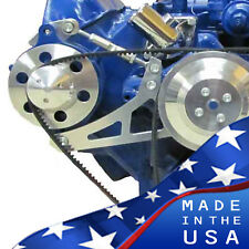 Ford FE Engine Alternator Bracket 390 427 428 V-Belt Polished Billet Aluminum