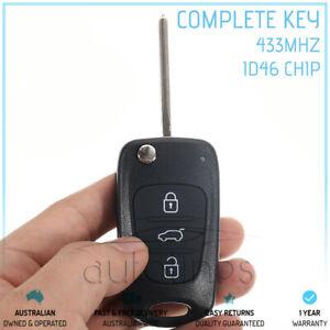Fits HYUNDAI i30 i20 Elantra 3 Button 433MHz ID46 Chip Remote Complete Flip Key