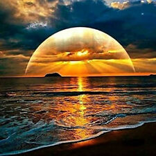 DIY 5D Diamond Painting Full drill Sunset Seascapes Embroidery Decor Art 346Y