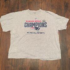 New England Patriots Super Bowl 49 Champions Official Graphic T-shirt Sz 3XL Big