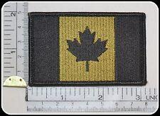 CANADA ARMY FLAG PATCH COMBAT MORALE MILITARY green  MULTICAM MILSPEC ACU hook