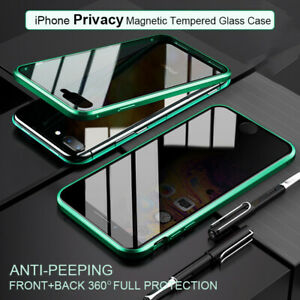 Anti Peep Magnetic Phone Case For iPhone 11 12 Pro Max SE XR X XS MAX 7 8 Plus