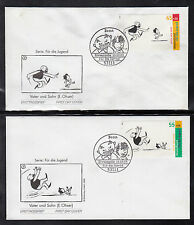 A-21) Germany 2003:  Father and Son Stories of 5 beautiful FDC
