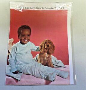 Joyful Times Black Americana 1960's Salesmen's Sample Calendar Top Print