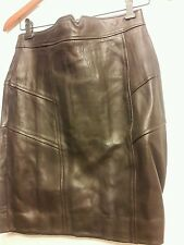 New Chocolate Brown Danier Leather Skirt size 6-8