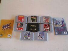Lot of 8 Nintendo 64 N64 Games + 2 Manuals -- 1080, Rush, Twisted Edge etc.