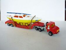 Majorette 3000 Series NO:3060 Scania Truck With Boat & Trailer Good Condition