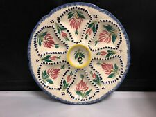 HB QUIMPER FRENCH FAIENCE OYSTER PLATE
