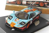 MCLAREN F1 GTR #2 NIELSEN BSCHER FIA GT 1997 HOCKENHEIM IXO ALTAYA 1/43 GULF BMW