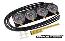 Motorcycle Carb Carburettor Vacuum Balancer Gauge For 2,3,4 Cylinder Gauges Kit