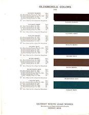 1936 OLDSMOBILE 36 VERY RARE ORIGINAL PAINT CHIPS ROGER DETROIT WHITE LEAD