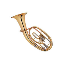 Baritone Horn Outfit B Flat Brass Instrument With Case,Mouthpiece