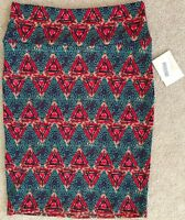 LULAROE RED GREEN PURPLE CASSIE SKIRT NWT! M