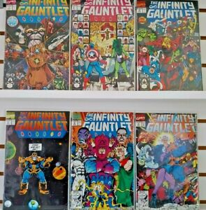⭐️ The INFINITY GUANTLET #1-6 (complete lot) (1991 MARVEL Comics) VF/NM Books