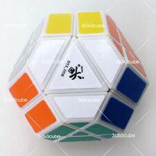 White DY Gem Cube V No.5 Magic Cube Twist Puzzle Braintease Toy By Dayan