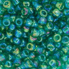 Vtg 25 HUGE RECYCLED GLASS DEEP GREEN DROP BEADS  #111010g