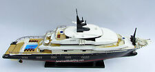 Alfa Nero Motor Yacht - Handcrafted Wooden Ship Model New