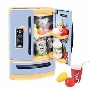 GrowthPic Kids Kitchen Toy Refrigerator Pretend Play Mini Kitchen Set with Mu...