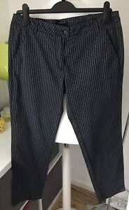 Sisley Slim Check Trousers UK12 NWTS