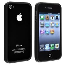 Slim Silicone Shockproof Bumper Case Skin for iPhone 4S 4 w/ 3x Screen Protector