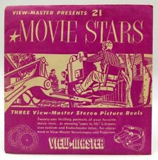 View-Master MPX, Movie Stars, Vintage 1954, S1 Package, 3 Reel Set