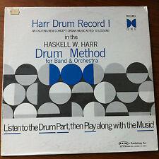 SEALED Haskell W Harr Drum Record 1 Vinyl LP Drum Method Instructional Lessons