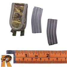 British Army Afghanistan - Double Mag Pouch w/ 2 Mags - 1/6 Scale - DID Figures