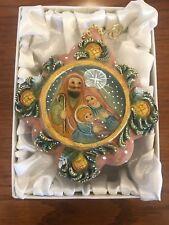 G Debrekt Mary, Joseph, Baby ornament NIB