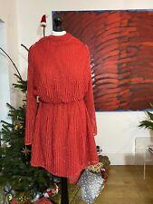 Topshop impresionante Rojo Brillante Vestido Talla 6 Perfecto Para Navidad