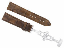 20MM LEATHER BAND WATCH STRAP DEPLOYMENT FOR TISSOT 1853 LE LOCLE LIGHT BROWN 2B