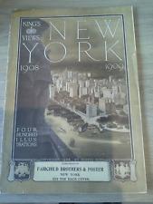 livre book King's Views of New York, 1908-1909